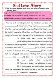 English Worksheets: Sad Love Story | love | Love story