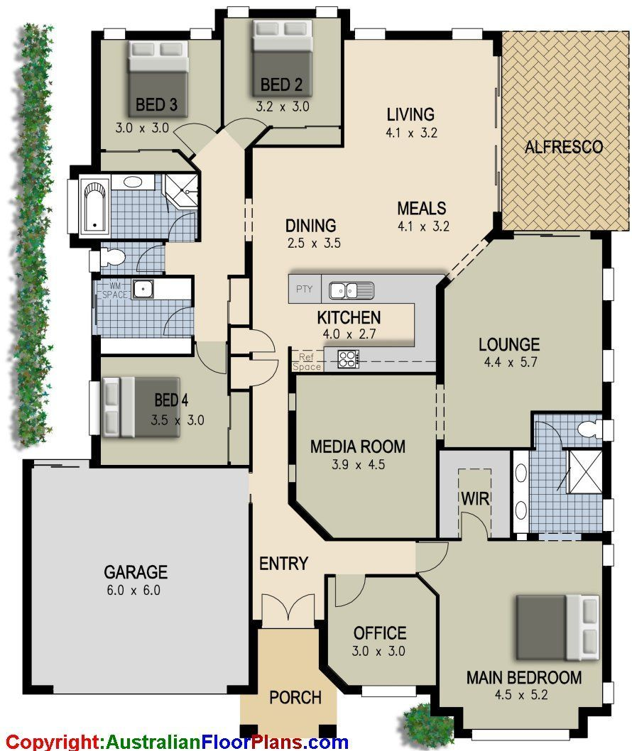 modern house plan layout | Tags: simple modern house design ...