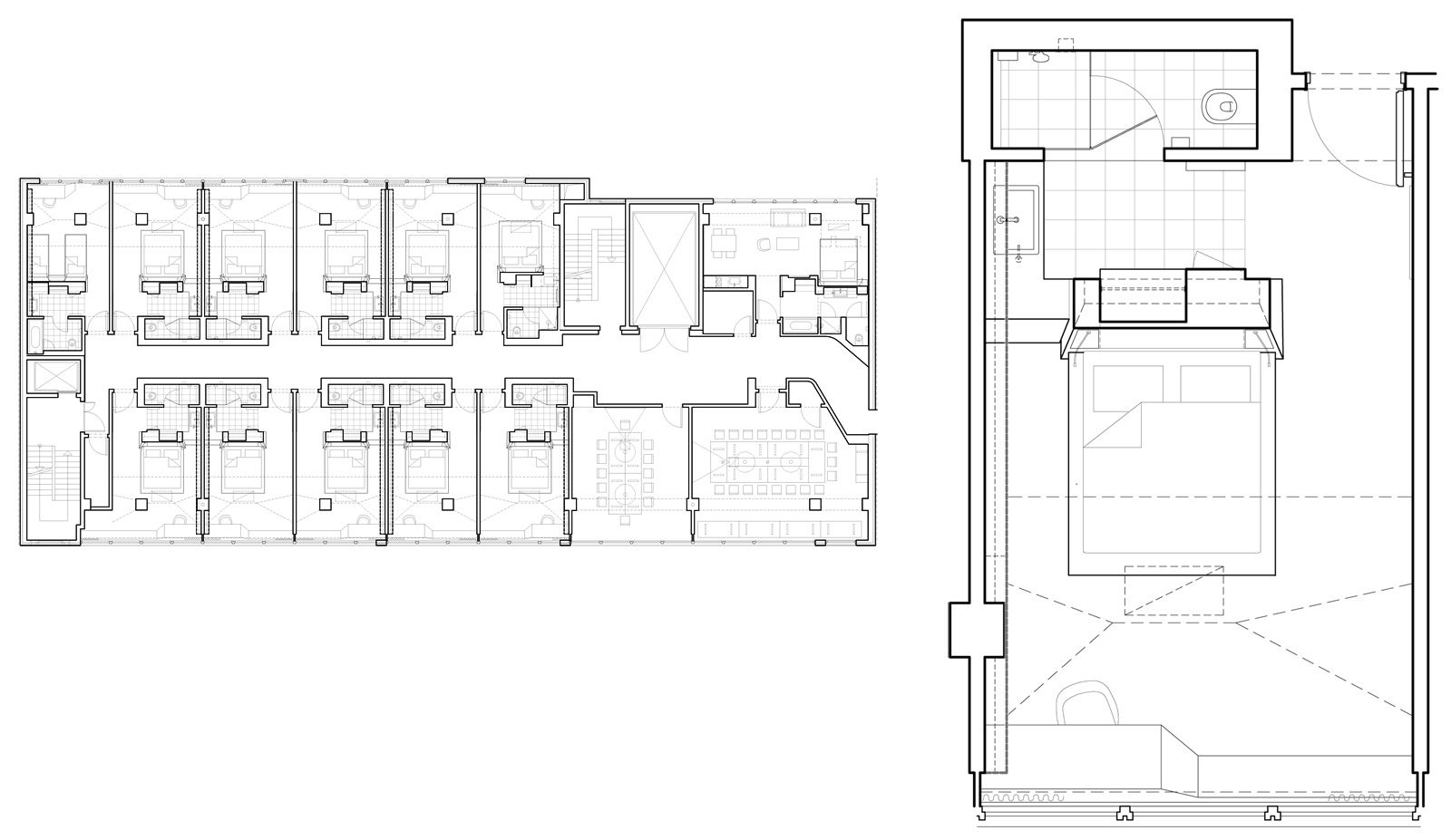 Hotel room layout dimensions images for Hotel design layout