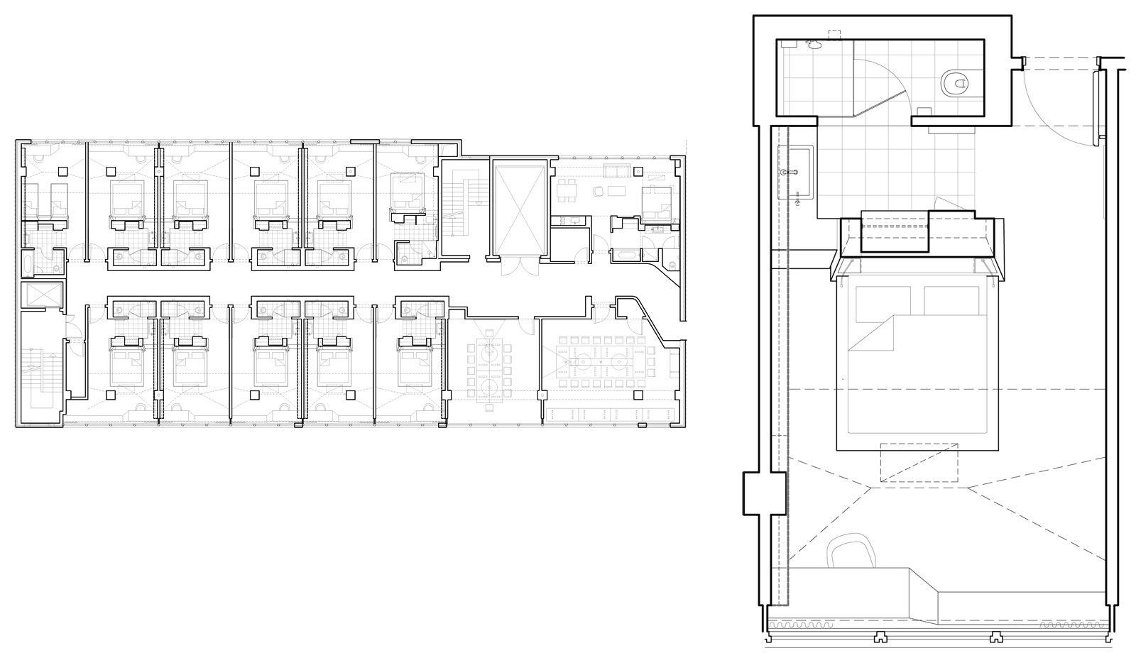 Aspria 6 2 Jpg 1 600 927 Pixels Small Hotel Room Hotel Room Plan Hotel Floor Plan