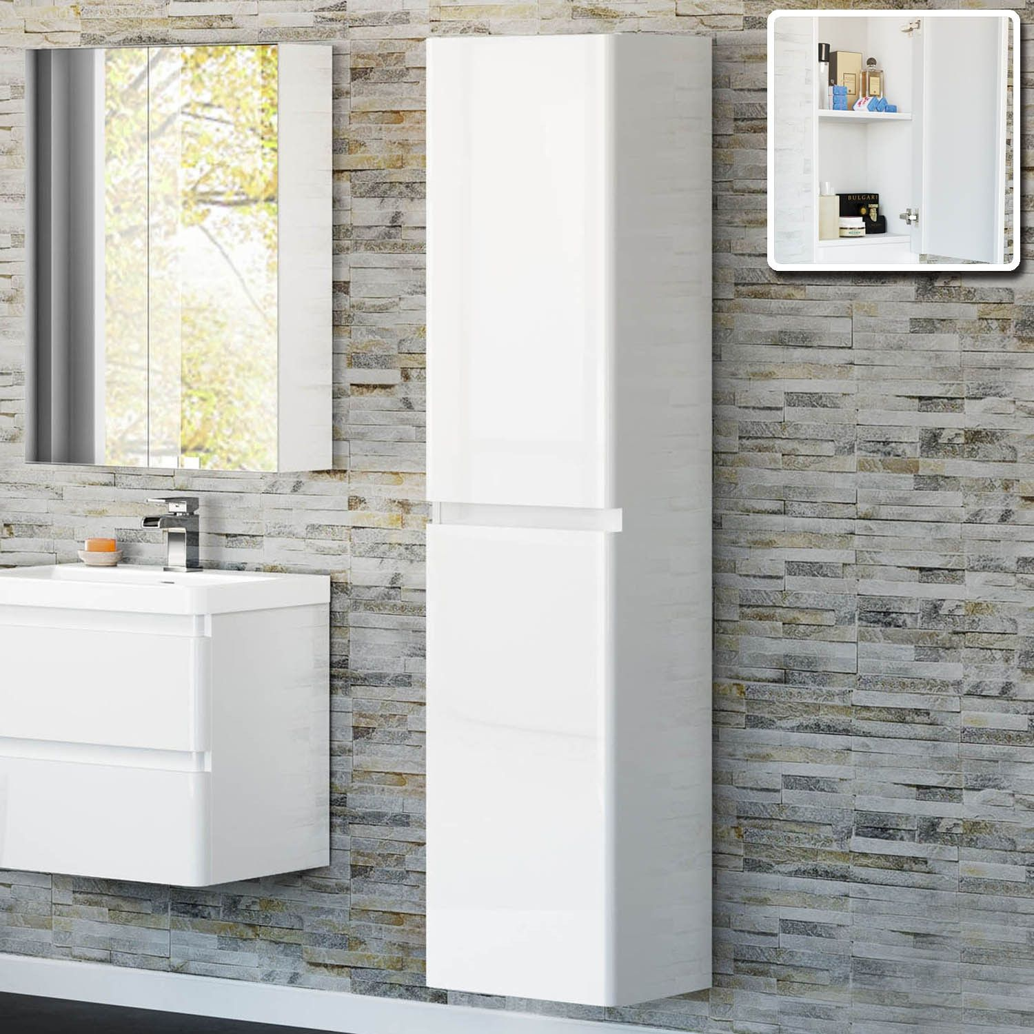 77 White Gloss Wall Mounted Bathroom Cabinet Best Kitchen Ideas Check More At
