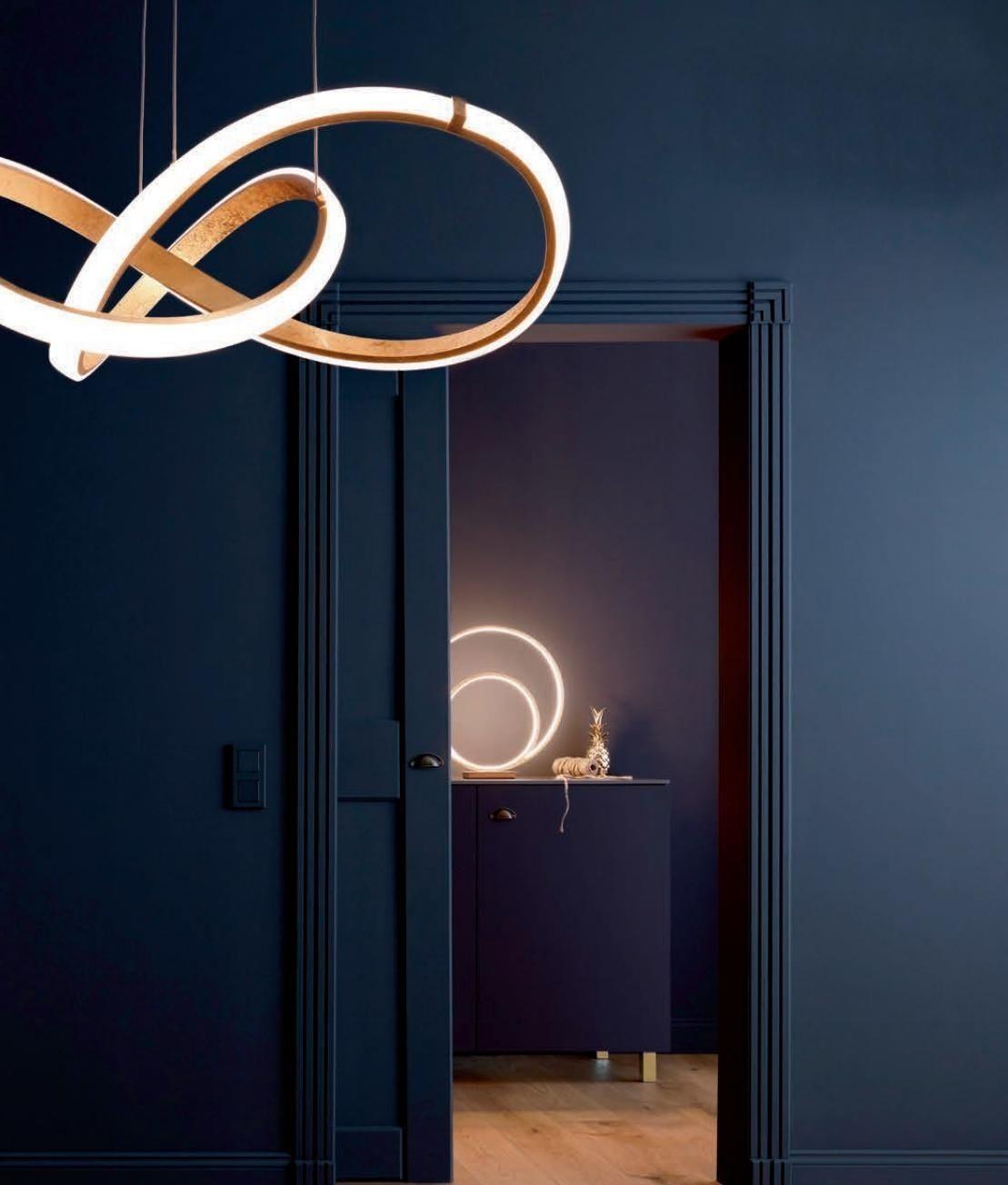 Large Twisted Swirl LED Gold Pendants   Ceiling Lighting ...
