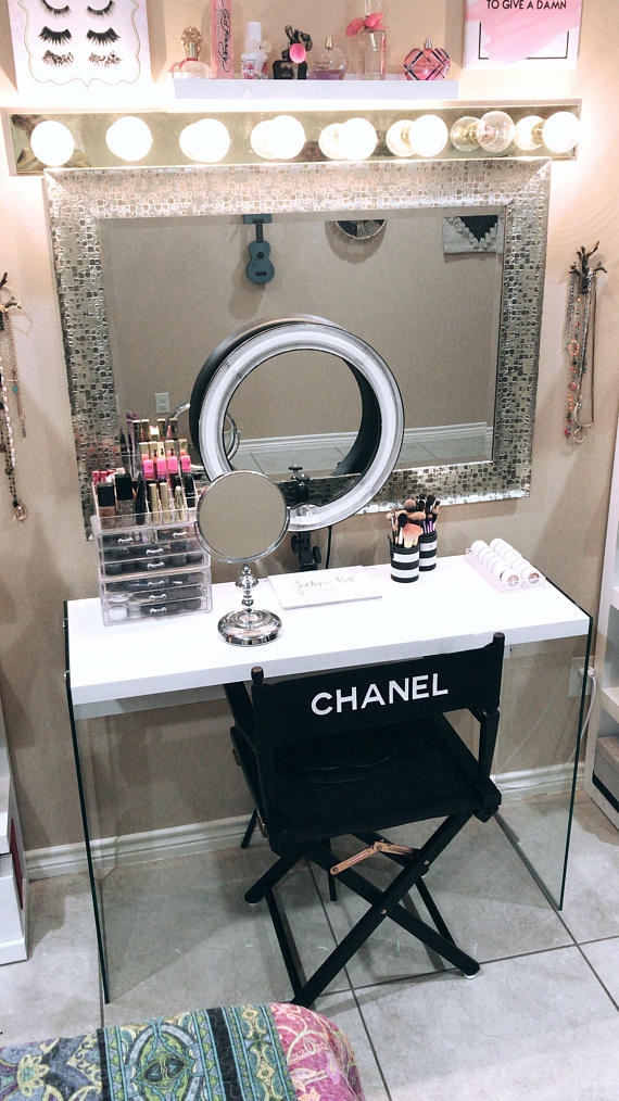 Designer Inspired Personalized Director's Chair Vanity