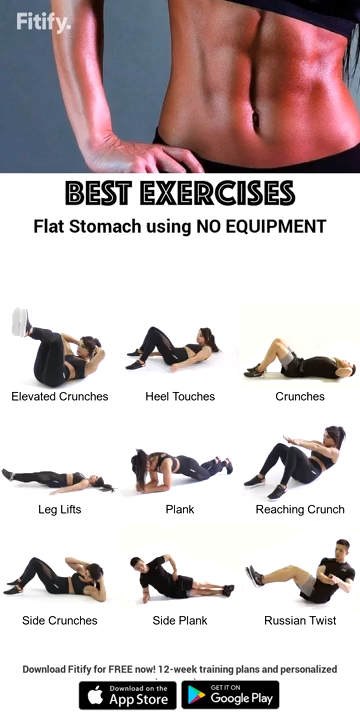 Best Exercises Flat Stomach Using No Equipment #cardioyoga