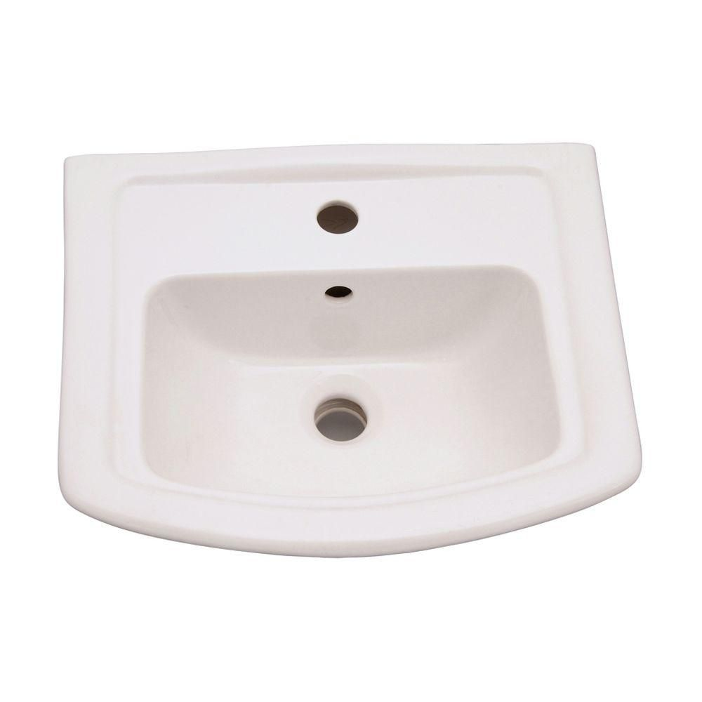 Barclay Products Washington 6 In Pedestal Sink Basin Only In