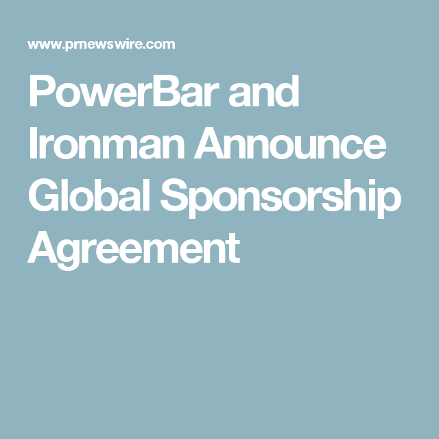 Powerbar And Ironman Announce Global Sponsorship Agreement  De