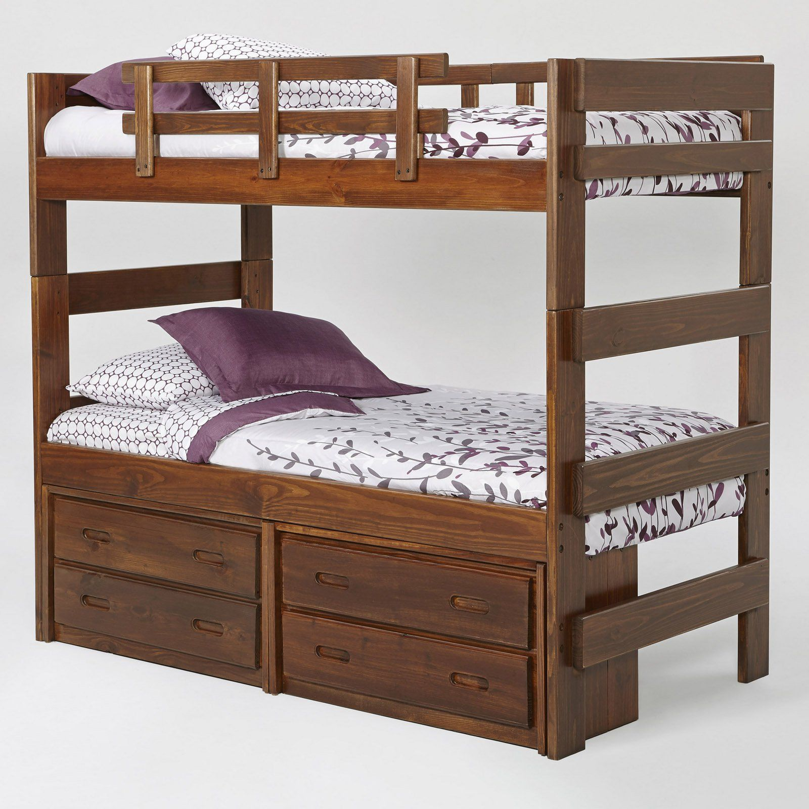Woodcrest Heartland Extra Tall Stacking Twin Over Twin Bunk Bed