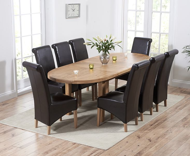 Chelsea Solid Oak Oval Extending Dining Table With Kentucky Chairs Interesting Extendable Dining Room Sets Design Decoration