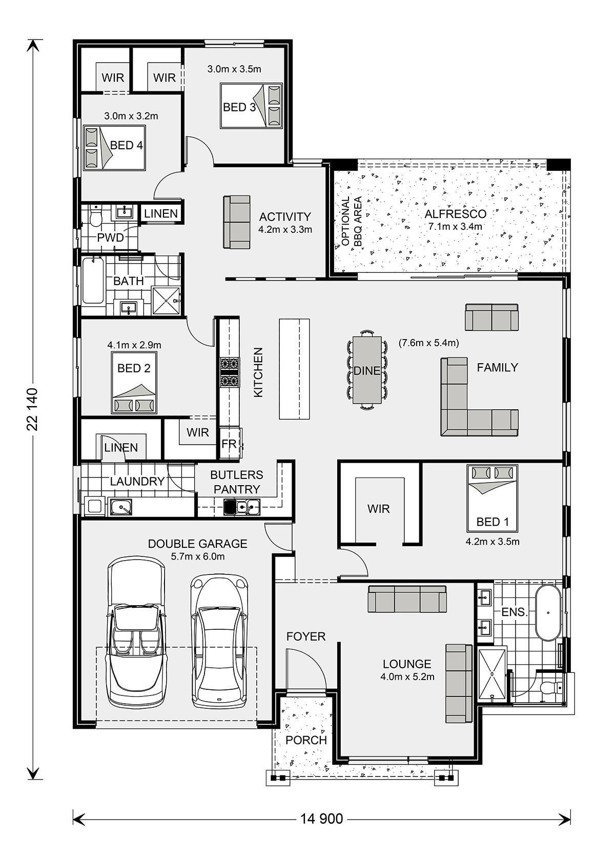 Vista 285 Home Designs In G J Gardner Homes House Plans Australia Home Design Floor Plans Dream House Plans