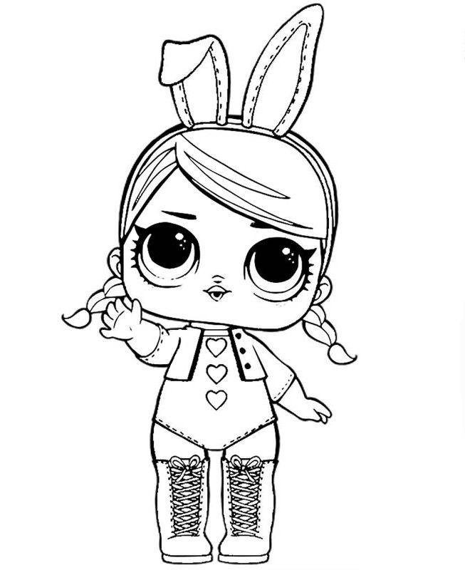 Кукла ЛОЛ зайка - Куклы LOL | Раскраски, Шаблоны животных ...