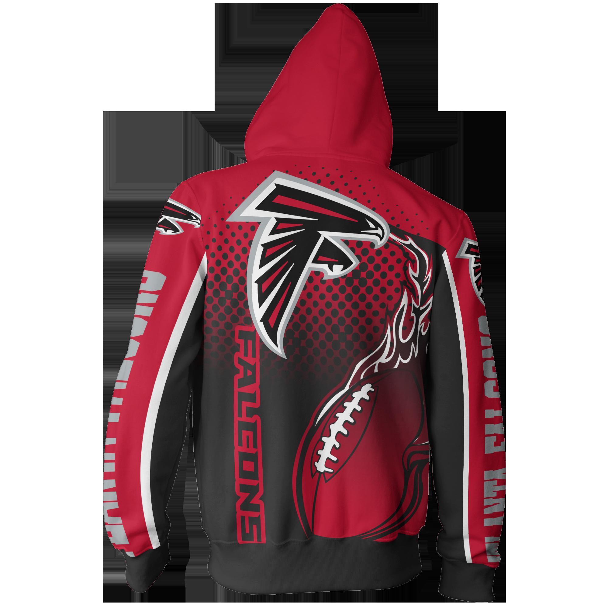 Men Women Atlanta Falcons 3d Zipper Hoodie Atlanta Falcons Zipper Hoodie Nfl Atlanta Falc Atlanta Falcons Clothes Atlanta Falcons Atlanta Falcons Hoodie