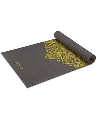 Gaiam Premium Citron Sundial Yoga Mat 5mm Women Macy S Yoga Mat Yoga Mats Best Yoga Matt
