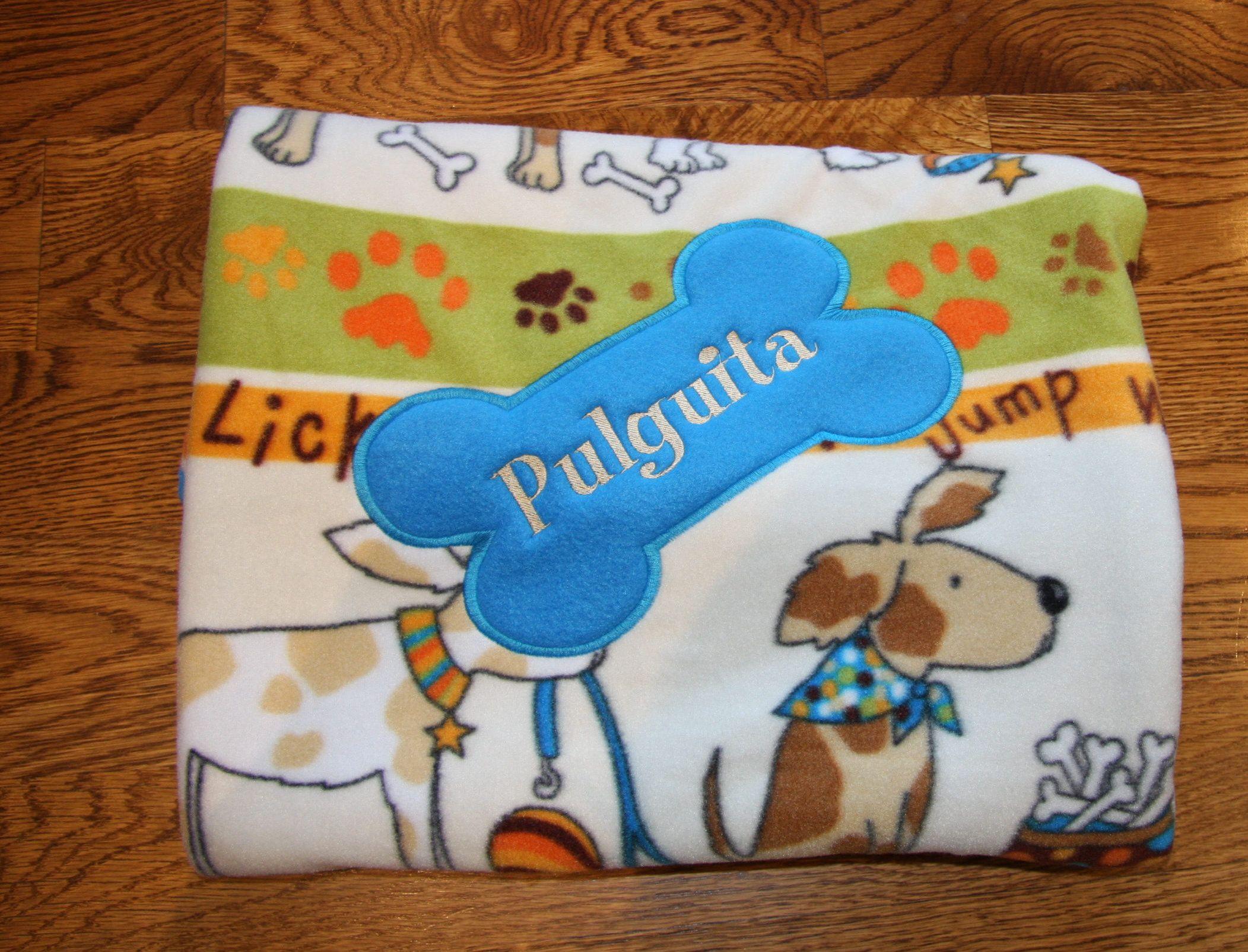 REVERSIBLE Personalized Pet Blanket Dog Blanket Fleece