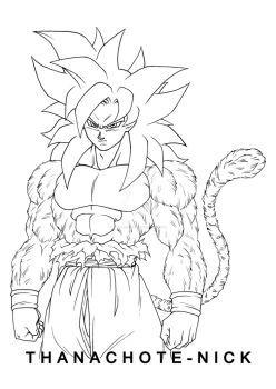Goku Ultra Instinct (Sign) + SSJ4 by Thanachote-Nick
