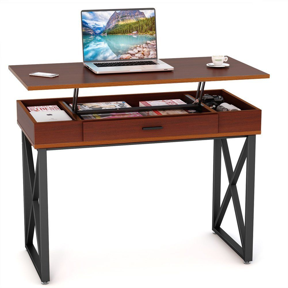 Amazon Com Tribesigns Lift Top Computer Desk Height Adjustable
