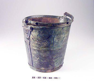 pail. bronze and iron. From Birka (Historiska Museet)