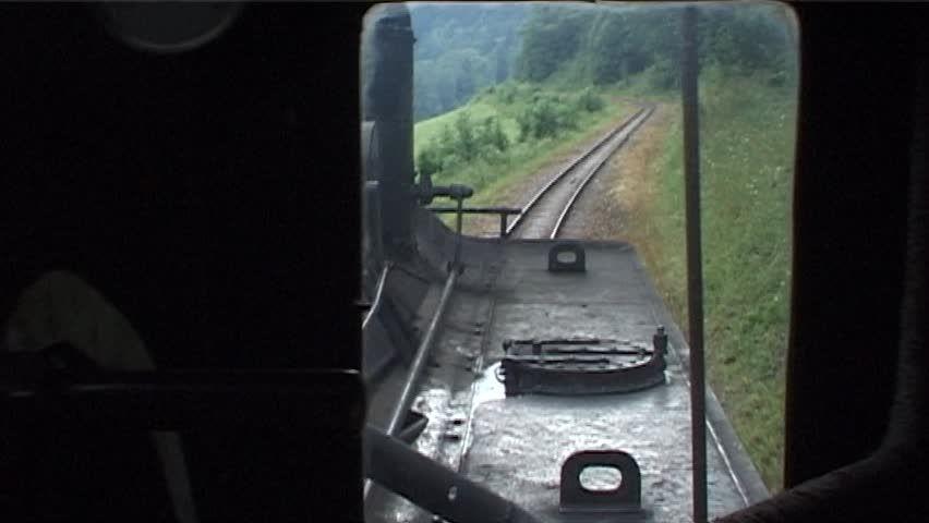 LUNZ, AUSTRIA - JUNE 04: Cab Ride in Steam Locomotive in railway station on June 04, 2006 in Lunz, Austria.