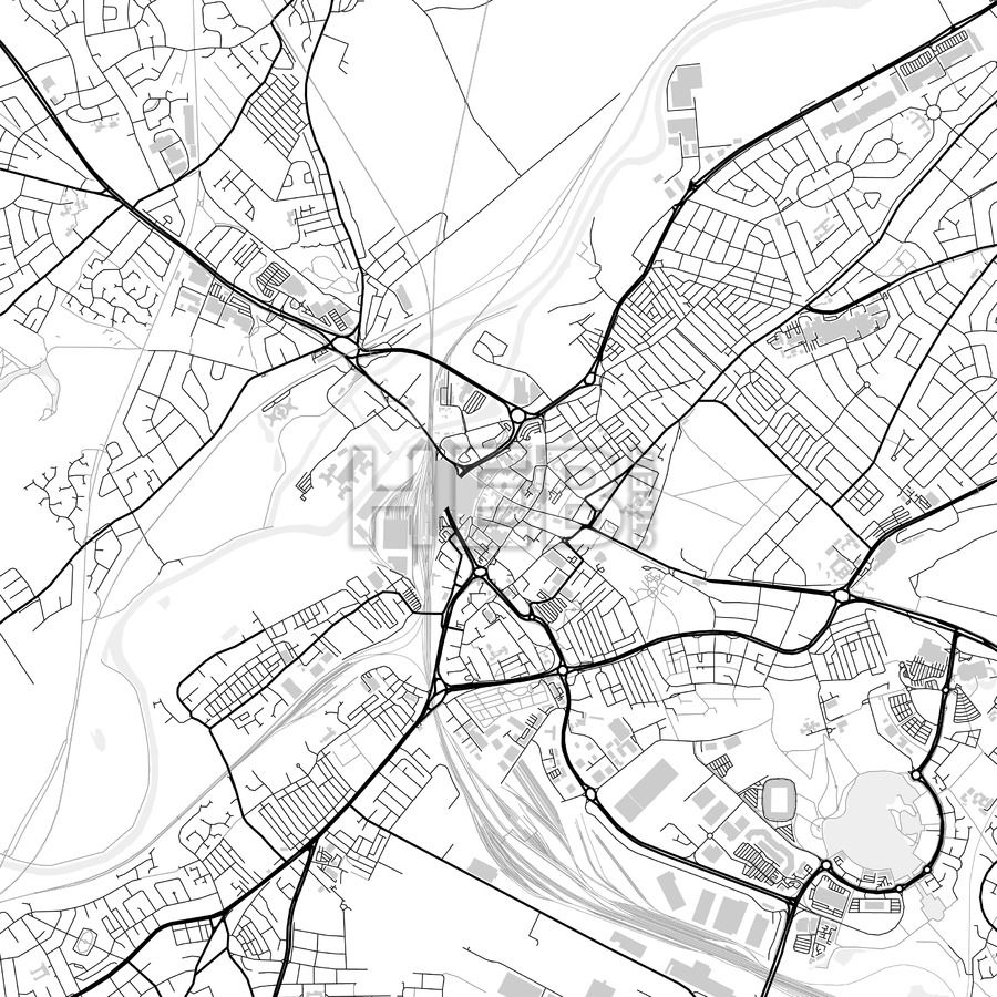 Downtown vector map of Doncaster   City vector, Infographic and ...