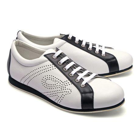 f8e59aa99 Two Tone Leather Fashion Sneaker // White (Euro: 43) | Shoes, Boots ...