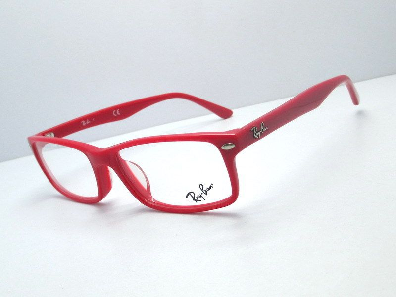 a1945c62155 Ray Ban RX 5265 Red Rectangle Eyeglasses