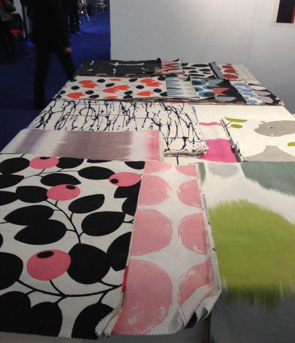 Paris-based designer Marie Adeline creates gorgeous patterned textiles.