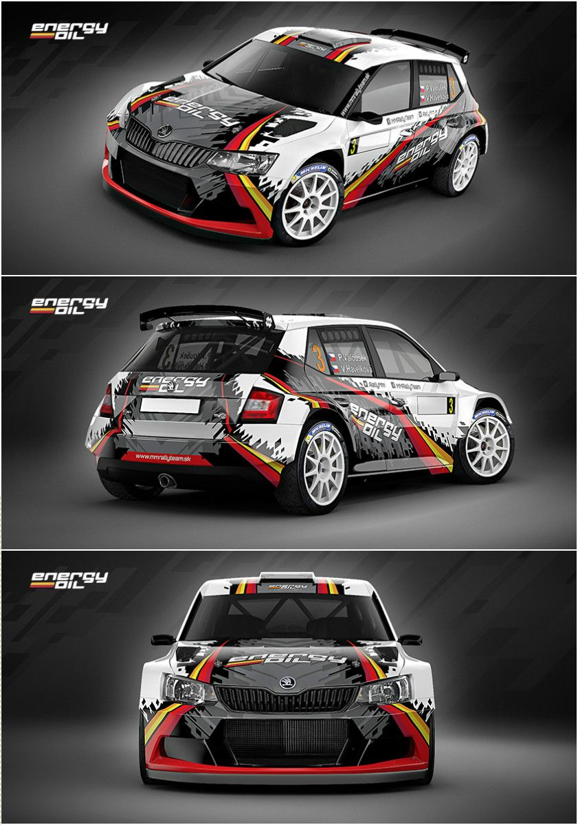 Sport car sticker design - Design For Slovak Mm Rally Team Who Will Participate In 2016 Season With Koda Fabia R5 Vehicle Signagestickervehicle