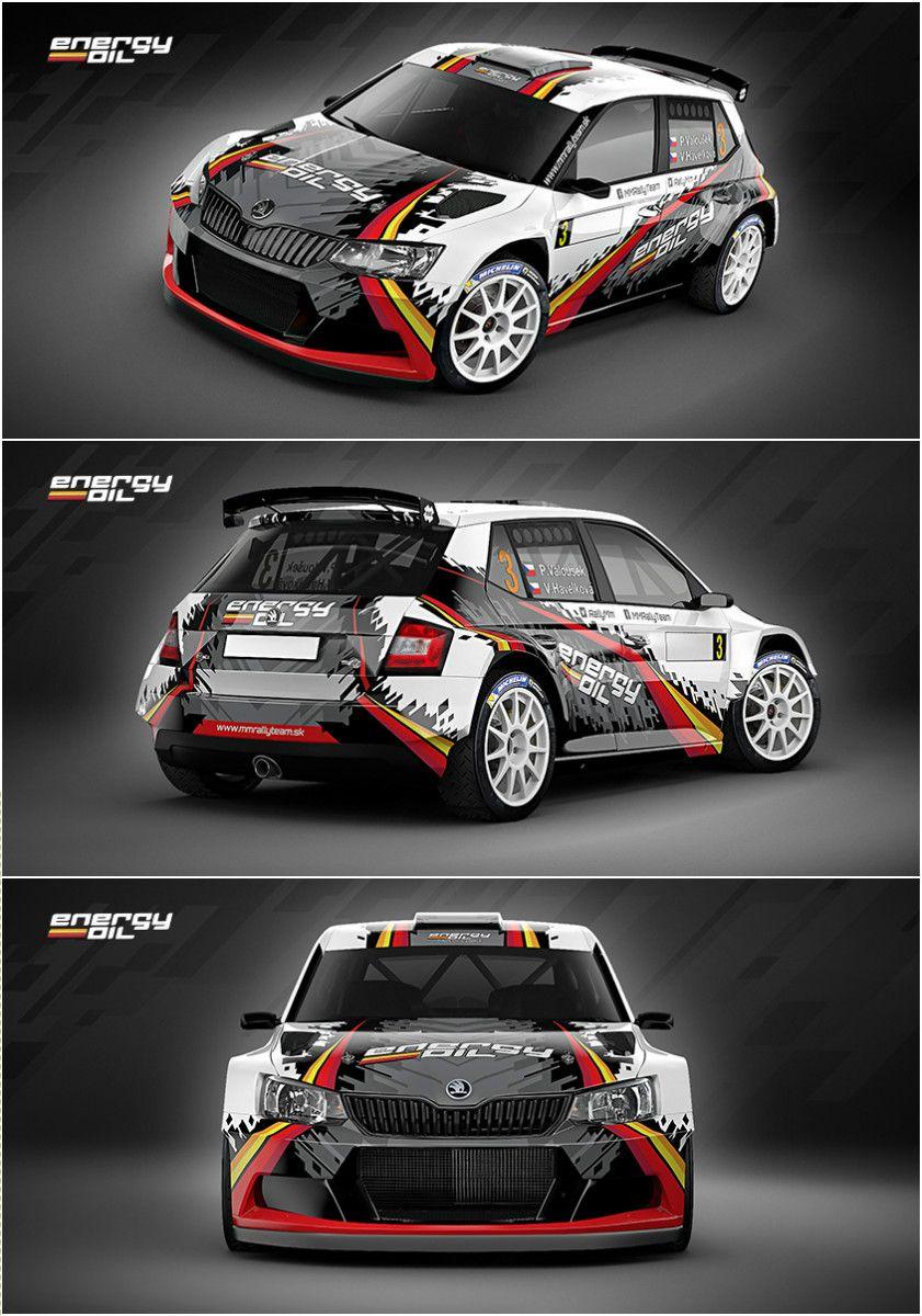 Car design sticker rally - Design For Slovak Mm Rally Team Who Will Participate In 2016 Season With Koda Fabia R5