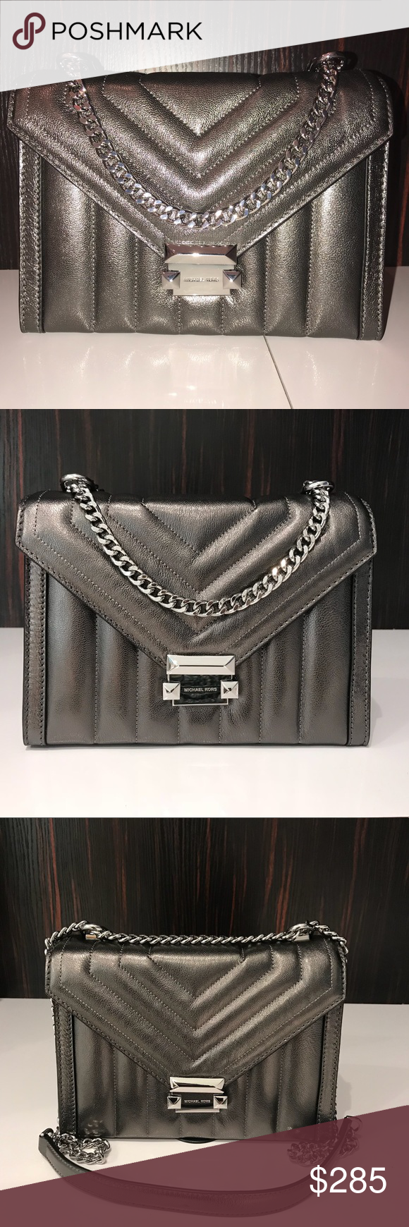 879e659a4dcd Michael Kors Whitney Quilted Leather Shoulder Bag Whitney Large Quilted  Leather Convertible Shoulder Bag Whitney shoulder bag is designed in  quilted ...