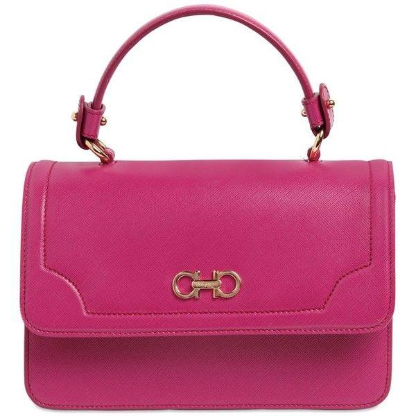 a982018ad4 Salvatore Ferragamo Women Seila Saffiano Leather Top Handle Bag (16.686.125  IDR) ❤