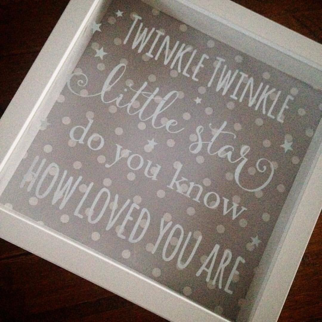 Baby room decor polka dots shadow box frame pic vinyl lettering ...