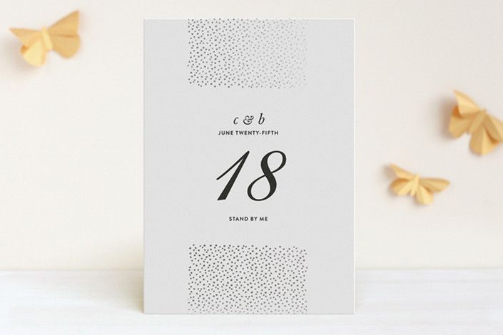 Delicate Dots Foil-Pressed Wedding Table Numbers by Ashley Hegarty at minted.com