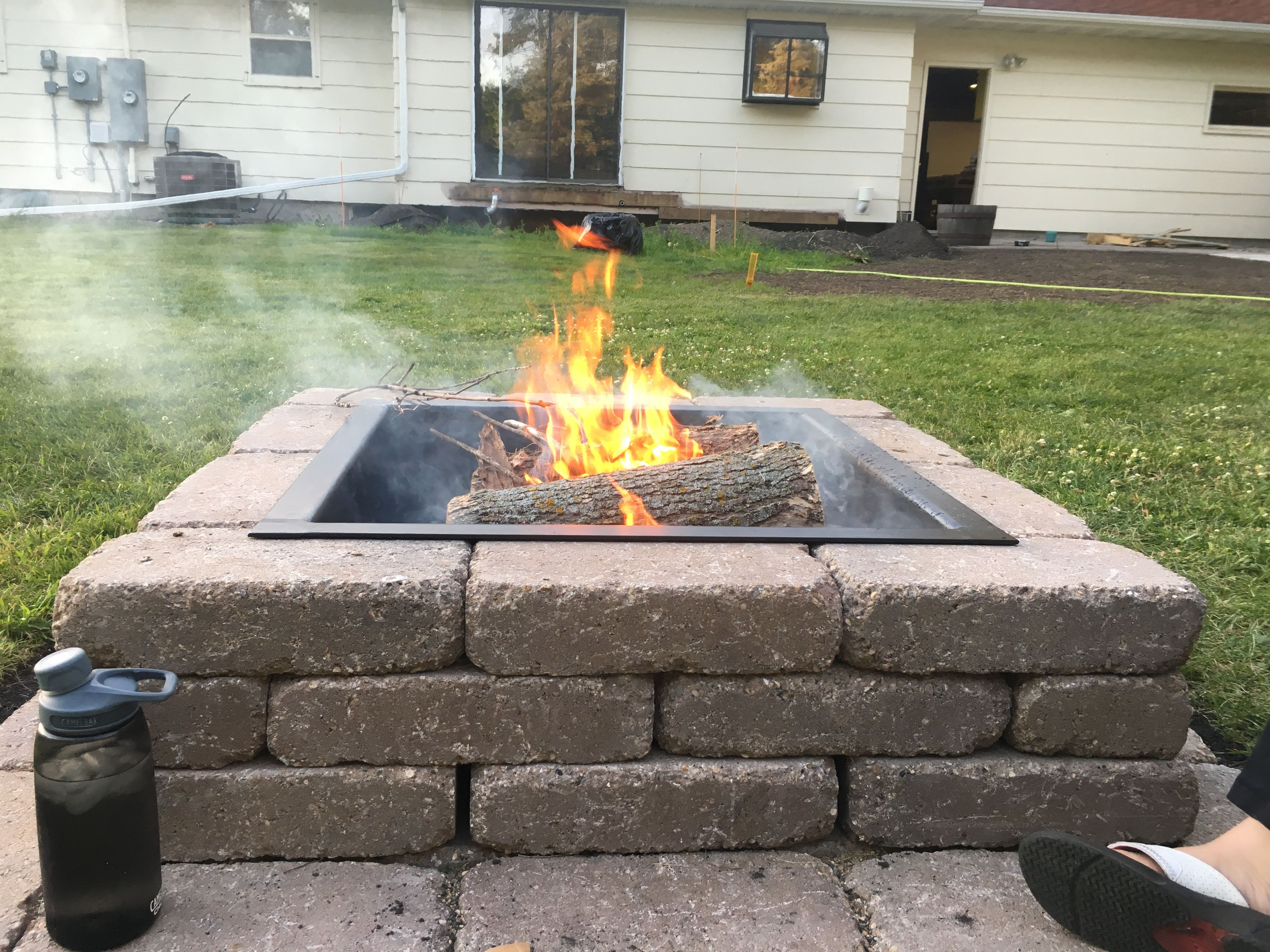 Building A Fire Pit  Skipping The Kit #Handmade #Crafts