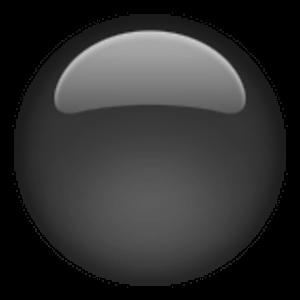Medium Black Circle Ergonomic Mouse Emoji Computer Mouse