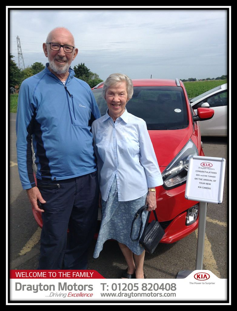 Mrs And Mr Turner Collected A Kia Carens From Vanessa And Nick