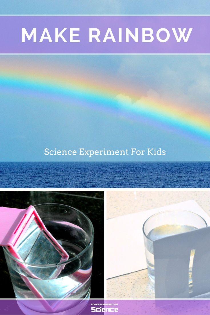 Rainbow Making Science Experiment #STEMActivityForKids #ScienceFairProject  #rookieparentingscience