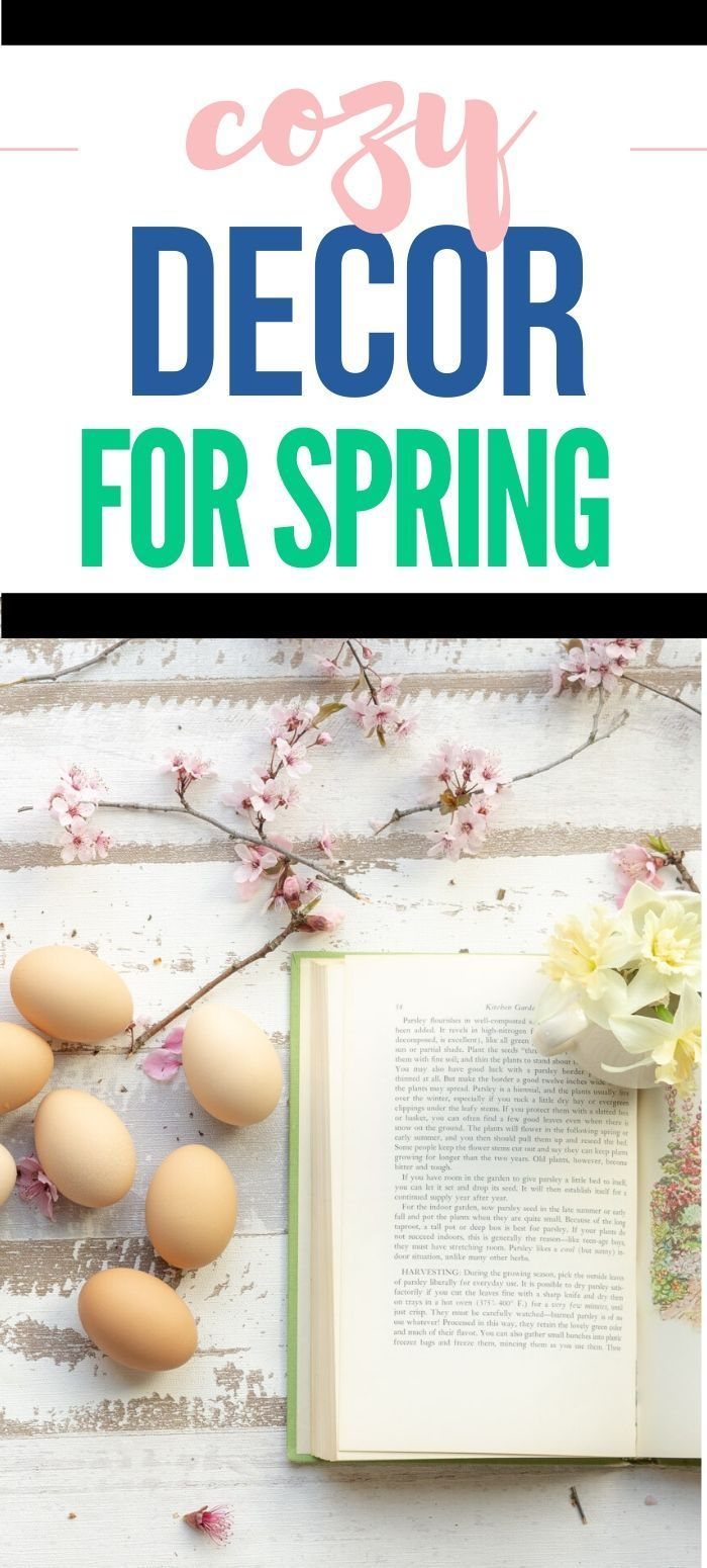 How To Make Your Home Cozy On A Budget Spring Decor