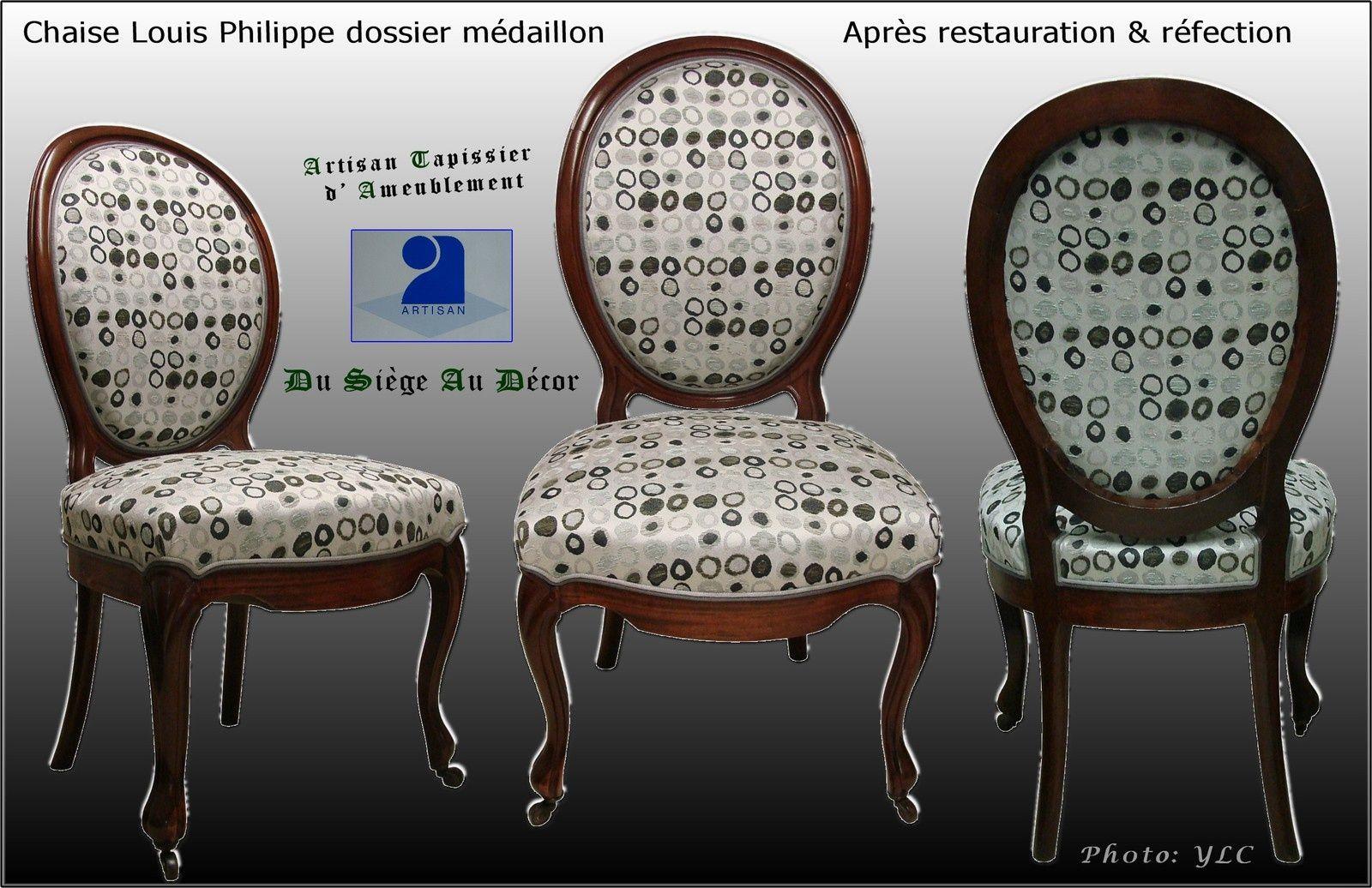 Chaise Medaillon Louis Philippe Du Siege Au Decor Tapissier D Ameublement Du Siege Au Decor Chaise Medaillon Chaise Ameublement