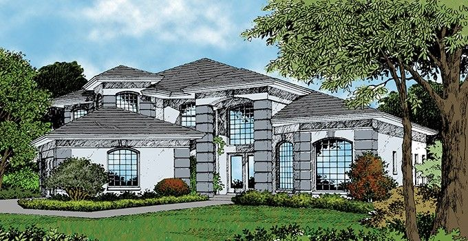 Mediterranean Style House Plan 3 Beds 2 5 Baths 2800 Sq Ft Plan 417 544 Mediterranean Style House Plans Contemporary House Plans House Plans