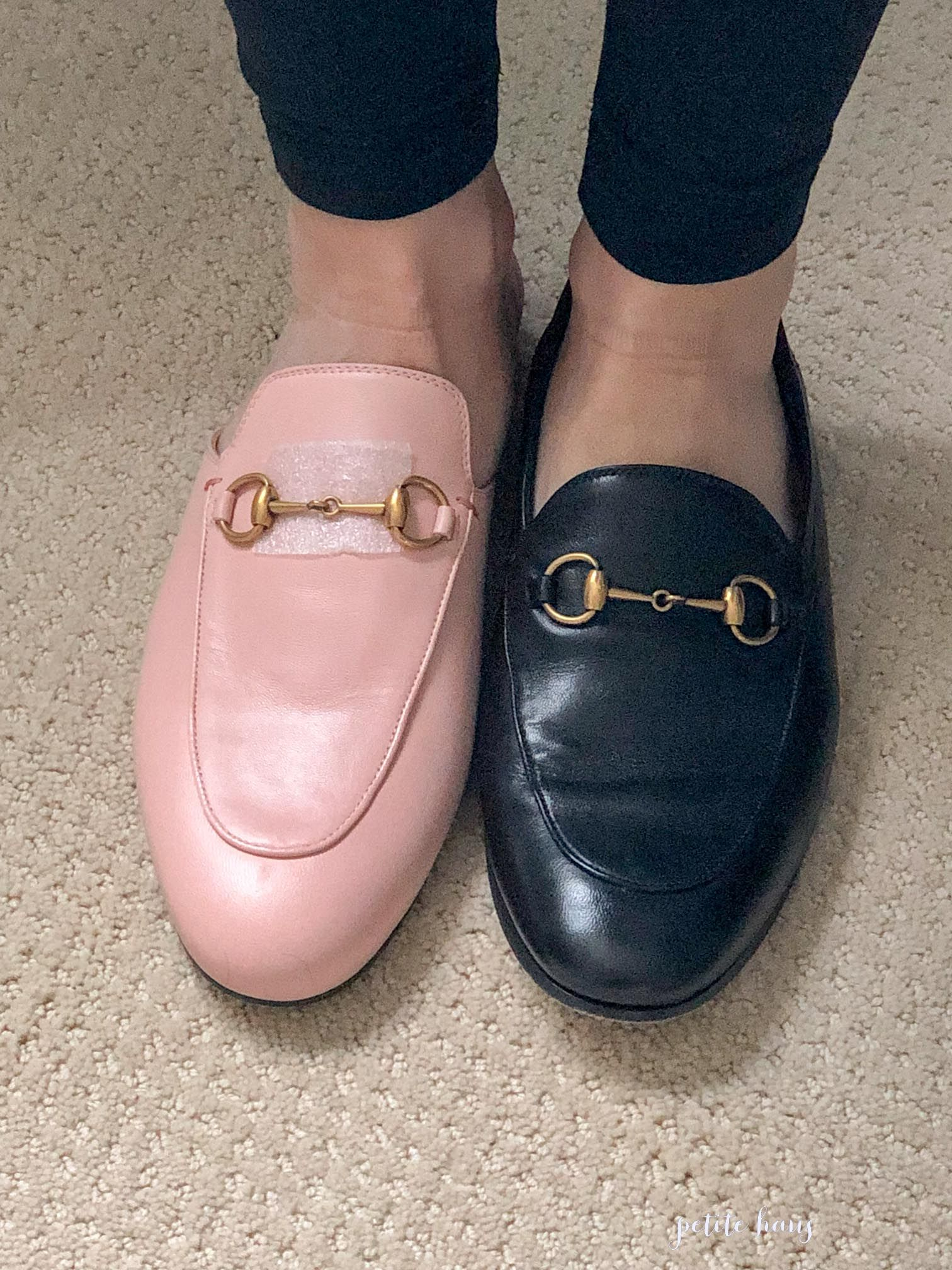 gucci pink brixton loafers
