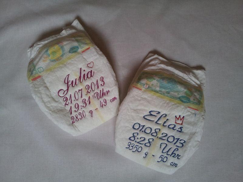 Weiteres - +Bestickte Windel für Neugeborene+ - ein Designerstück von as-design-Stephan bei DaWanda