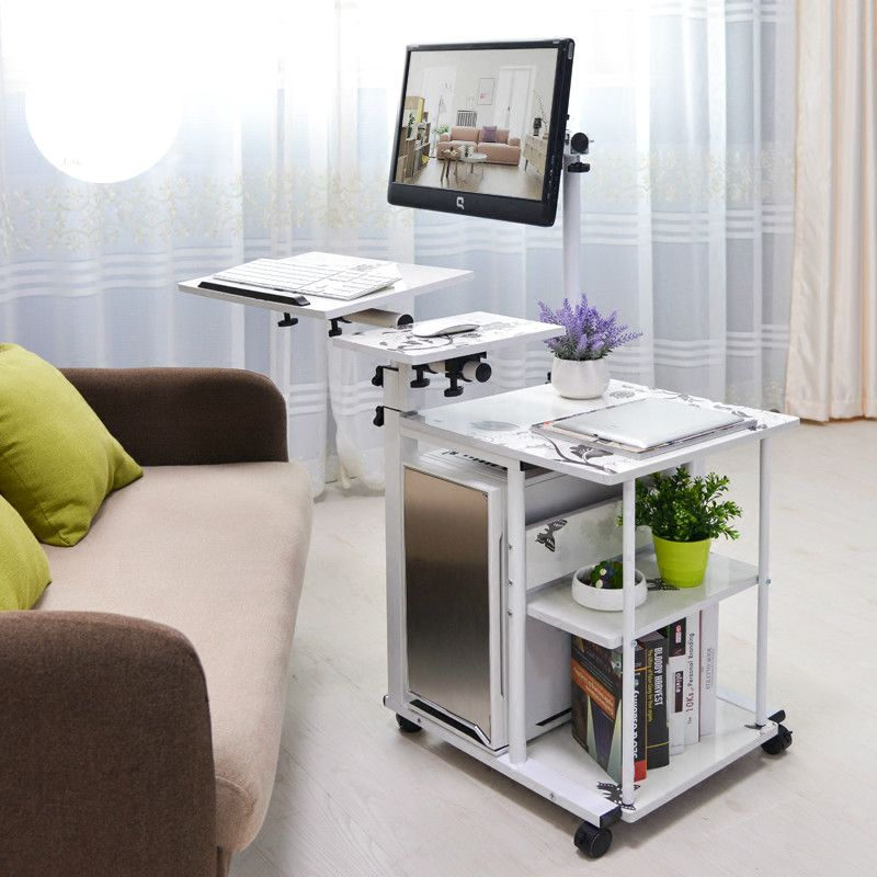 ホット販売ぶら下げシンプルなベッドサイドデスク怠惰なデスクトップコンピュータデスクfashionalのホームオフィス家具6スタイルオプション