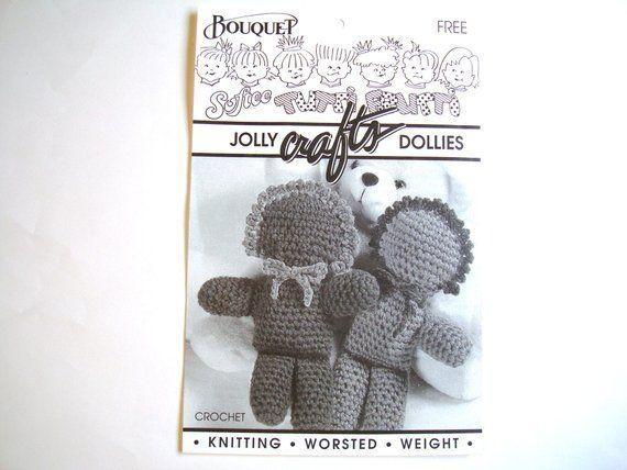 90e78273e JOLLY DOLLIES Crochet Pattern Bouquet Softee Tutti Frutti Dolls Dolly Children  Kids Vintage Crochet