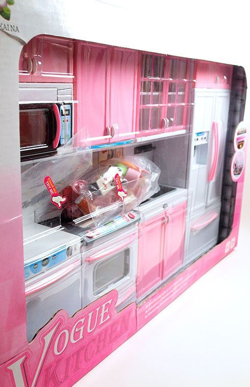 Barbie 4 Piece Vogue Modern Kitchen Set Barbie Club Styled For