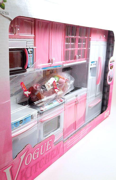 Barbie 4 piece vogue modern kitchen set lower price for Barbie kitchen set 90s