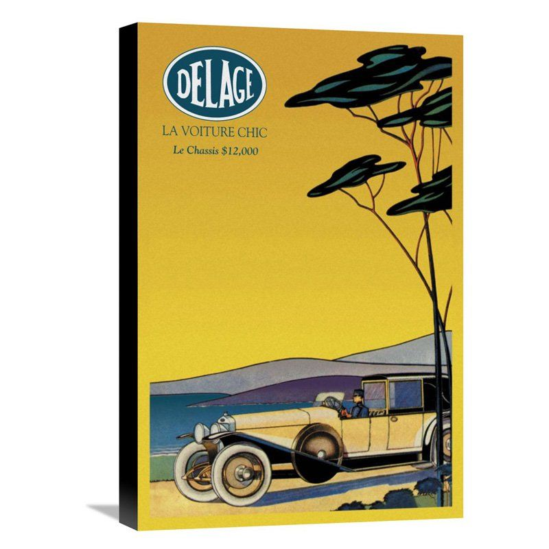 Global Gallery Delage - Out for a Drive Wall Art - GCS-342894 ...