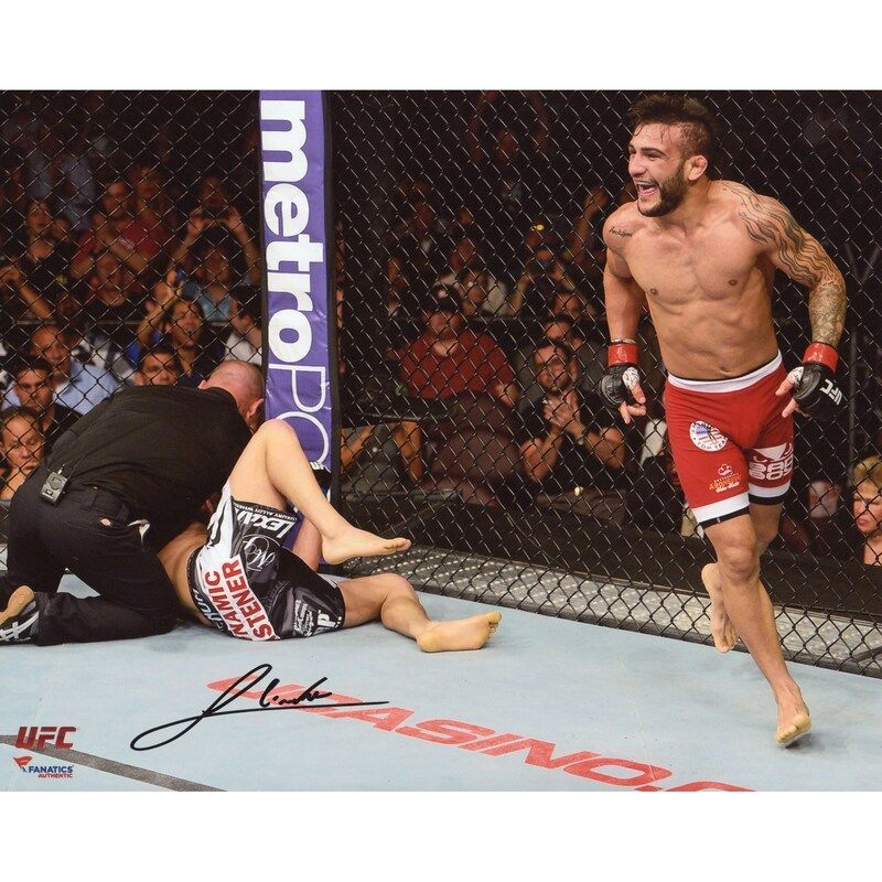 John Lineker Ultimate Fighting Championship Fanatics Authentic Autographed 8 X 10 Victory Celebra In 2020 John Lineker Ultimate Fighting Championship Chris Weidman Ufc