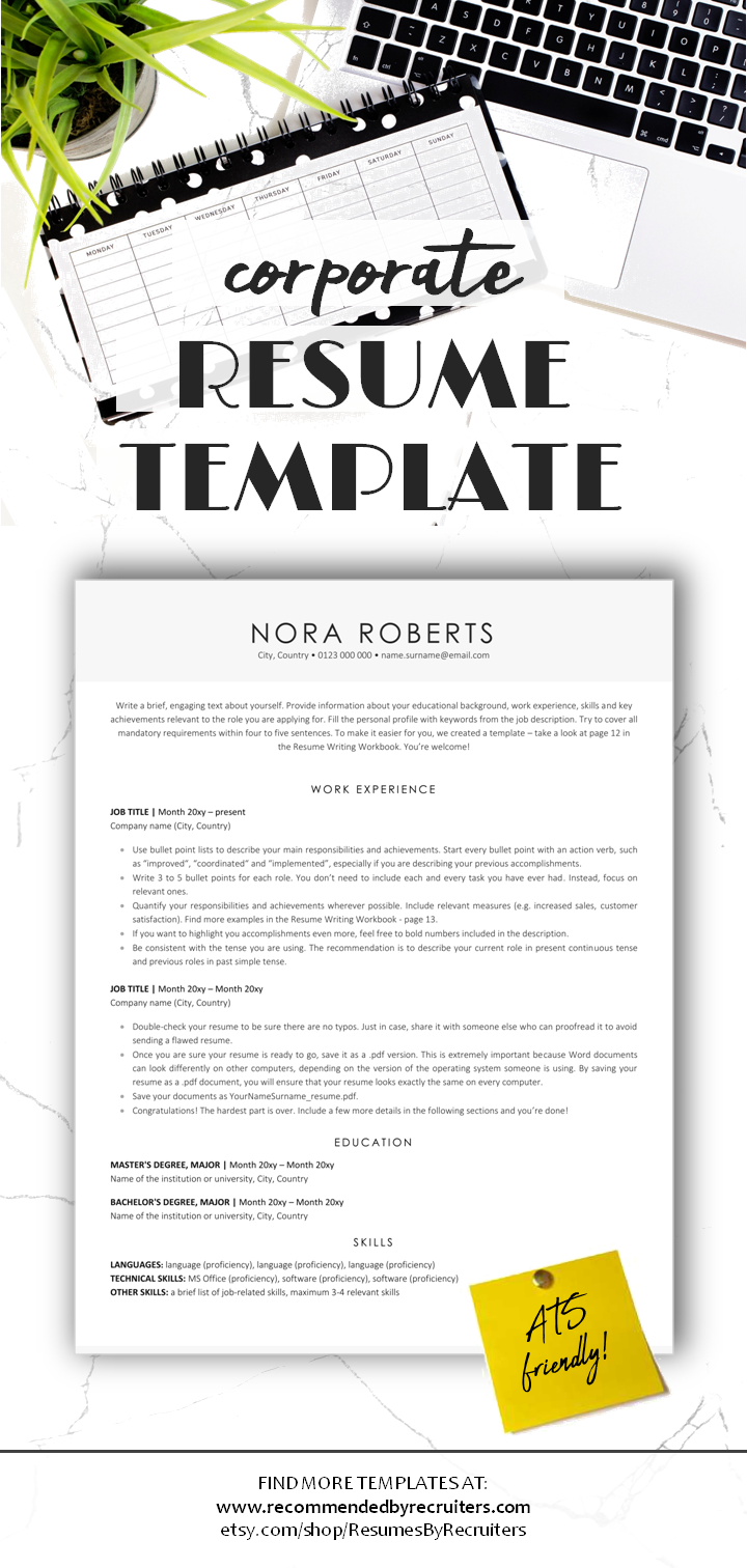 A perfect resume for any jobseeker looking to present