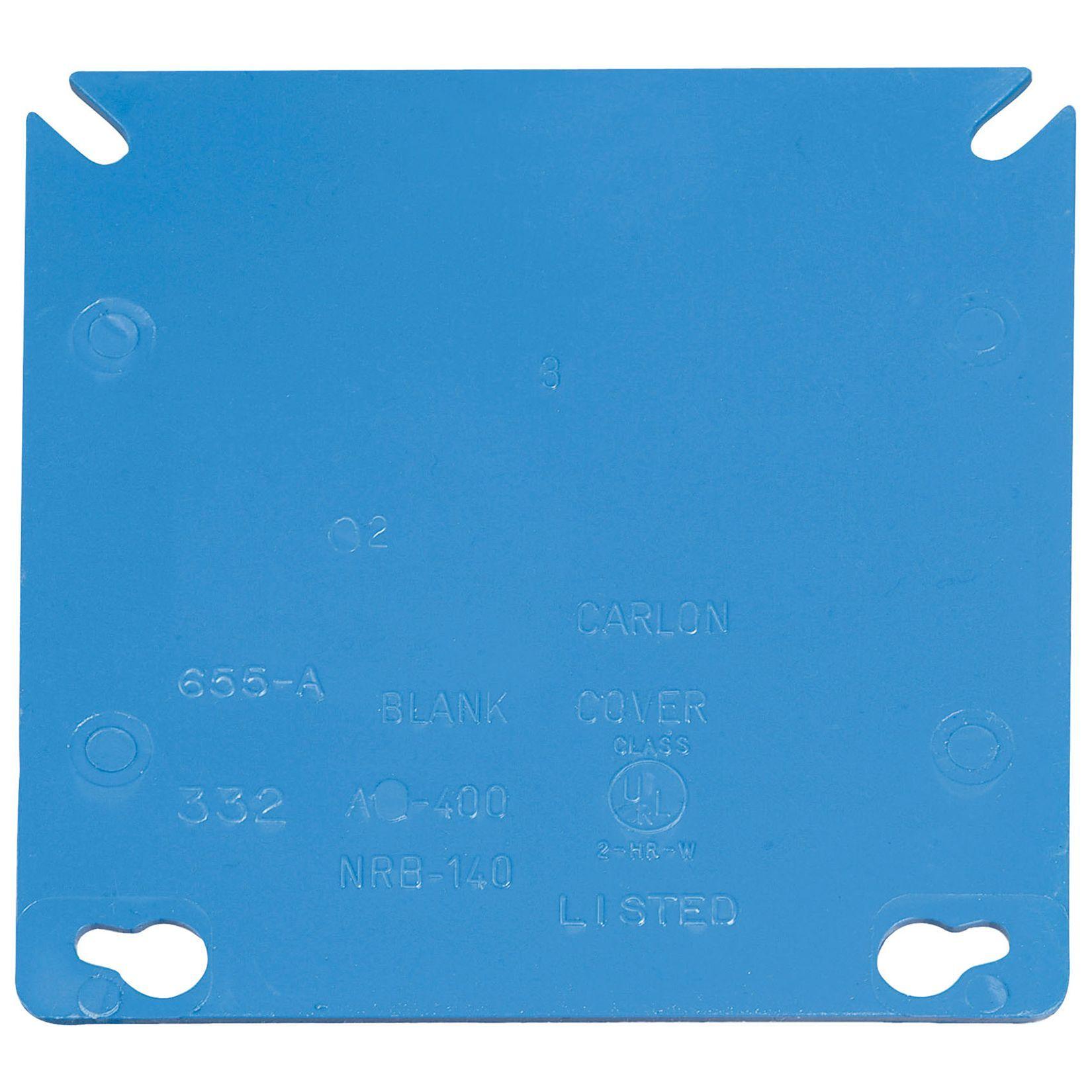 Carlon Lamson & Sessons A400R-CAR 4 Square Two Gang Blank Box Cover ...