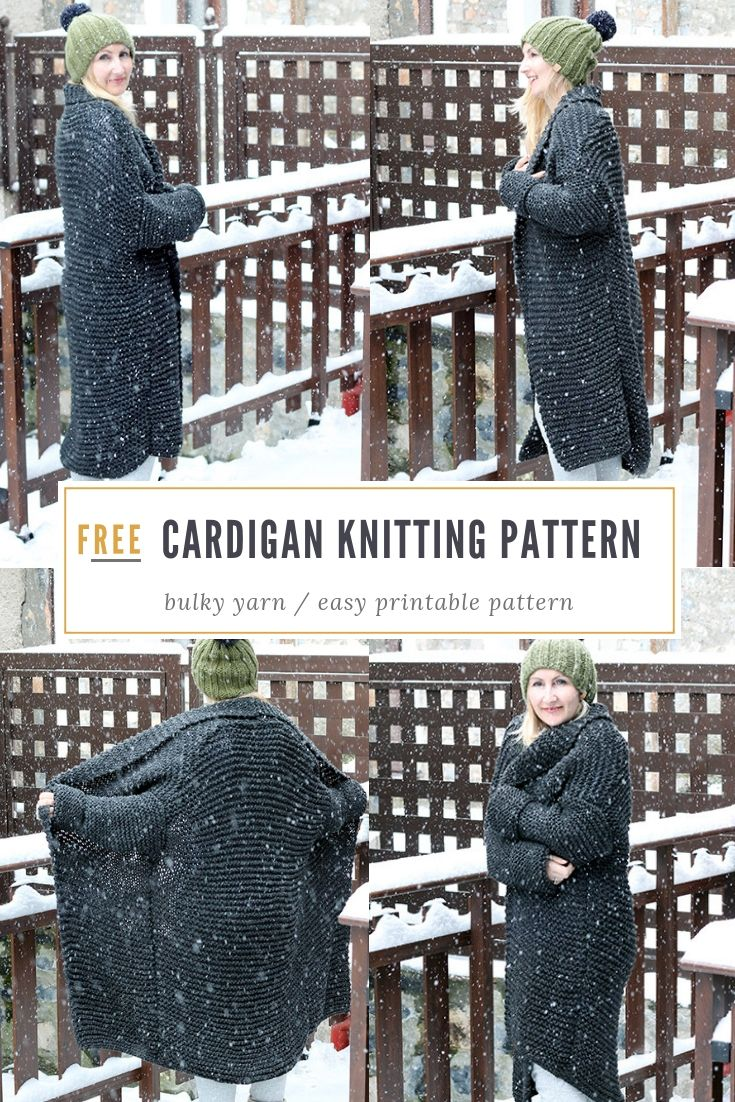Chunky Cardigan Knitting Pattern | Handy Little Me
