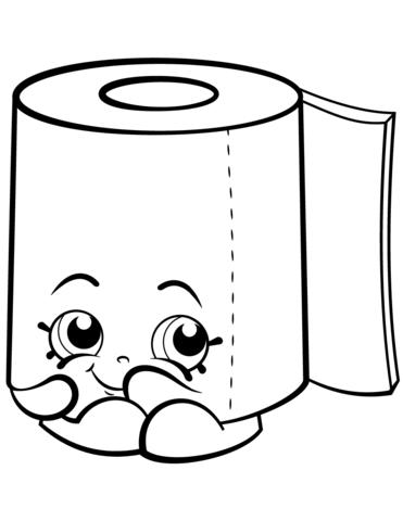 Sweat Leafy Roll Of Toilet Paper Shopkin Coloring Page Kostenlose Ausmalbilder Ausmalen Ausmalbilder